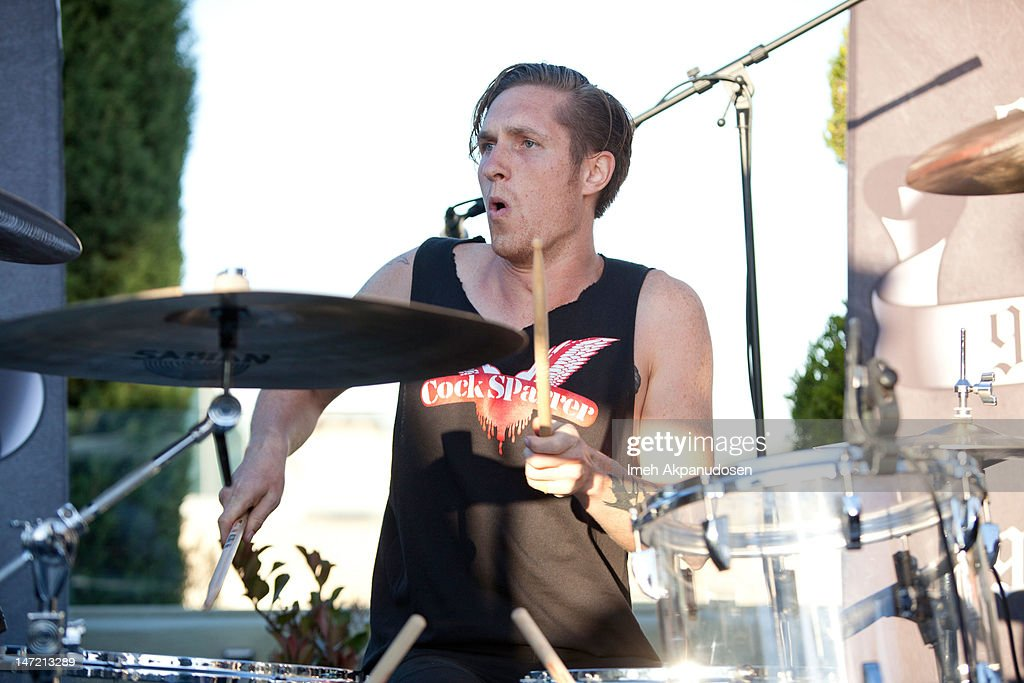 Percussionist Sean Friday of Dead Sara performs at 987FM Penthouse Party Presents A Warped Tour Encore Party Featuring Dead Sara And Friends at The...