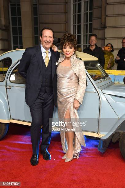 Percy Gibson and Joan Collins attend the World Premiere of 'The Time Of Their Lives' at The Curzon Mayfair on March 8 2017 in London England