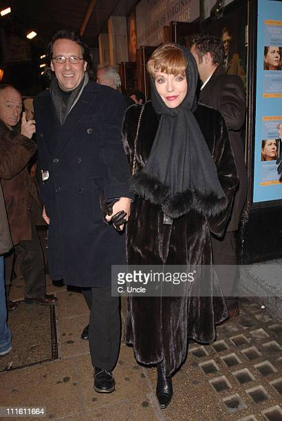 Percy Gibson and Joan Collins during 'Who's Afraid of Virginia Woolf' at the Apollo Theatre in London Press Night at Apollo Theatre in London Great...