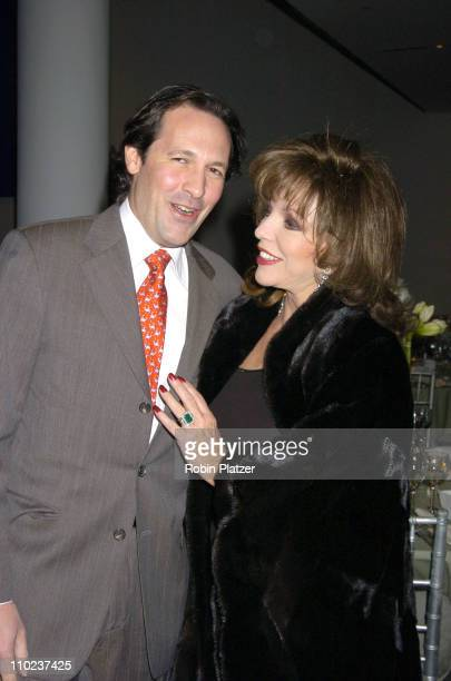 Percy Gibson and wife Joan Collins during NYC and Company Honors Leaders in Tourism at The Museum of Modern Art in New York City New York United...