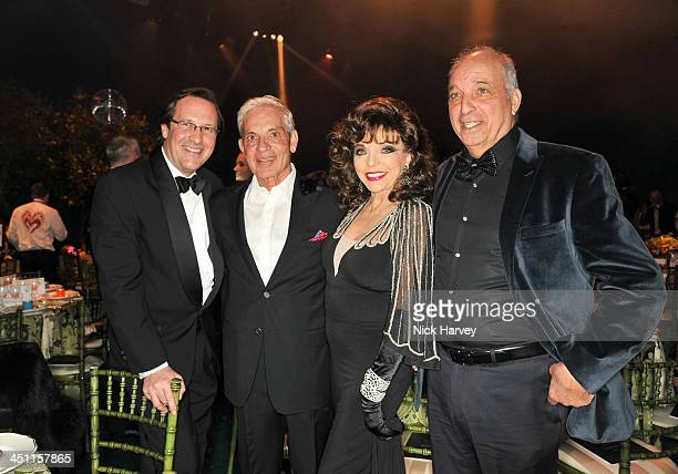 Percy Gibson Simon Reuben Joan Collins and David Reuben attend the Reuben Foundation Adventure in Wonderland party in aid of Great Ormond Street...