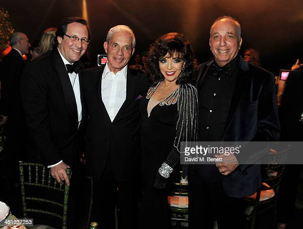 Percy Gibson Simon Reuben Joan Collins and David Reuben attend the Adventure in Wonderland Ball held by The Reuben Foundation in aid of Great Ormond...