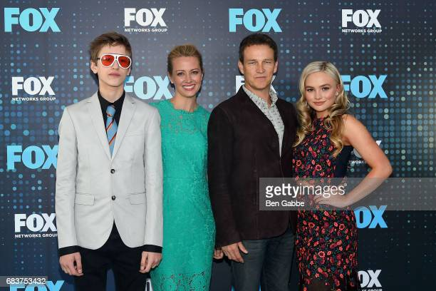Percy Hynes White Stephen Moyer Amy Acker and Natalie Alyn Lind attend the 2017 FOX Upfront at Wollman Rink on May 15 2017 in New York City