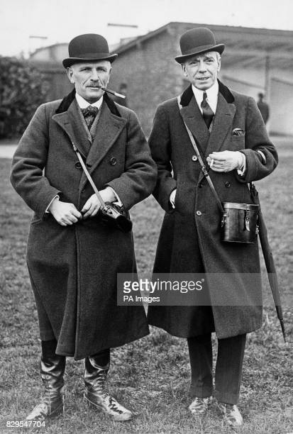 Percy Whitaker left and Sir Edward Edgar right trainer and owner respectively of Silvo