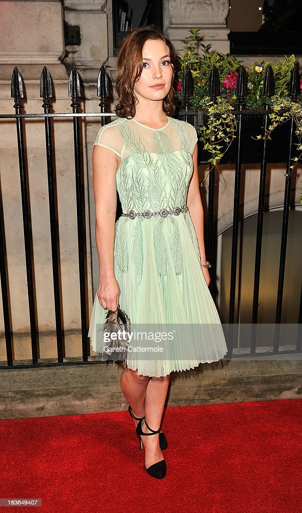 Perdita Weeks attends a gala dinner hosted by the BFI ahead of the 57th London Film Festival at 8 Northumberland Avenue on October 8, 2013 in London, England.