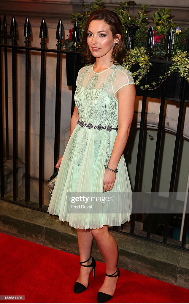 Perdita Weeks attends the BFI Gala Dinner at 8 Northumberland Avenue on October 8, 2013 in London, England.