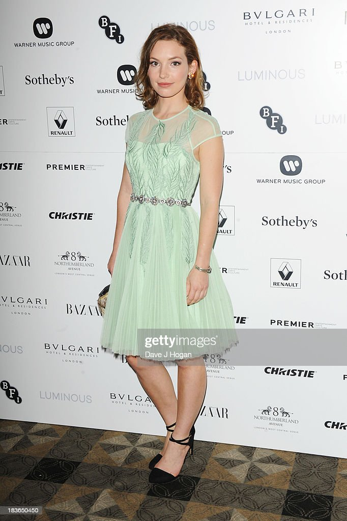 Perdita Weeks attends the BFI Luminous Gala dinner at 8 Northumberland Avenue on October 8, 2013 in London, England.