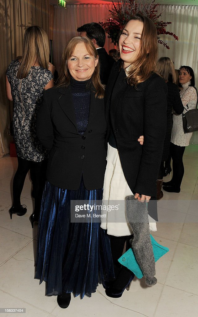 Perdita Weeks (R) attends the English National Ballet Christmas Party at St Martins Lane Hotel on December 13, 2012 in London, England.