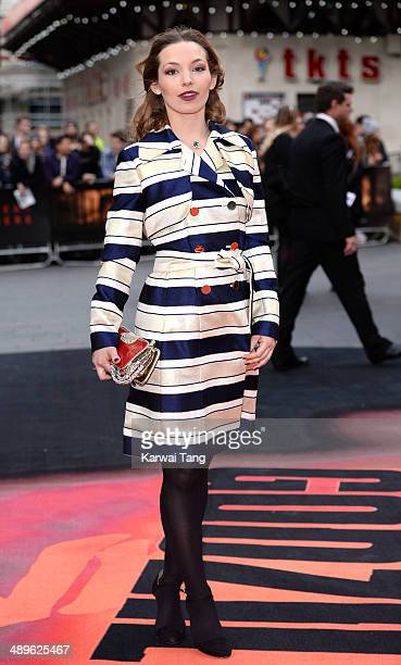 Perdita Weeks attends the European premiere of 'Godzilla' held at the Odeon Leicester Square on May 11 2014 in London England