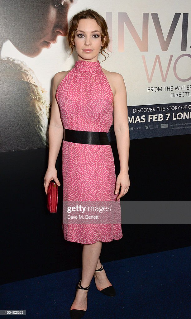 Perdita Weeks attends the UK Premiere of 'The Invisible Woman' at the ODEON Kensington on January 27, 2014 in London, England.