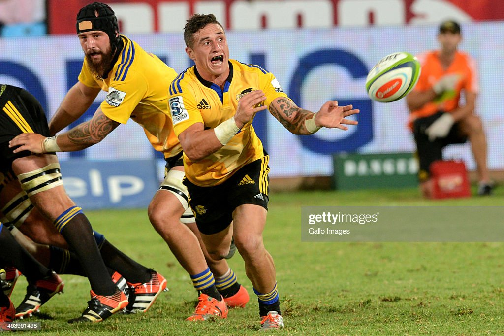 Perenara of the Hurricanes in action during the Super Rugby match between Vodacom Bulls and Hurricanes at Loftus Versfeld on February 20 2015 in...