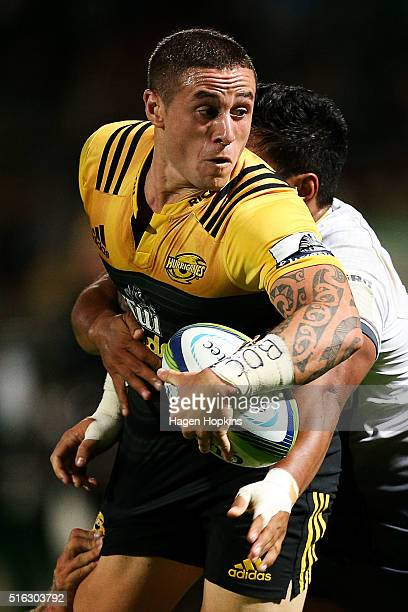 Perenara of the Hurricanes looks to pass during the round four Super Rugby match between the Hurricanes and the Force on March 18 2016 in Palmerston...