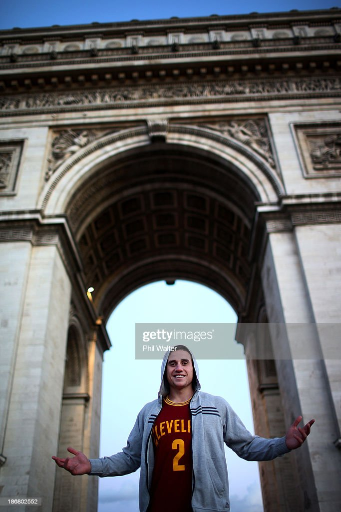 TJ Perenara of the New Zealand All Blacks poses for a portrait at the Arc de Triomphe on November 4, 2013 in Paris, France.