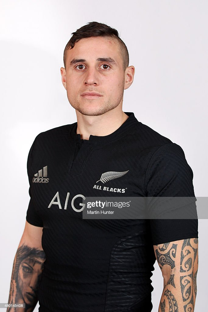 Perenara poses for a portrait during the New Zealand All Blacks headshots session at The George Hotel on July 10 2015 in Christchurch New Zealand
