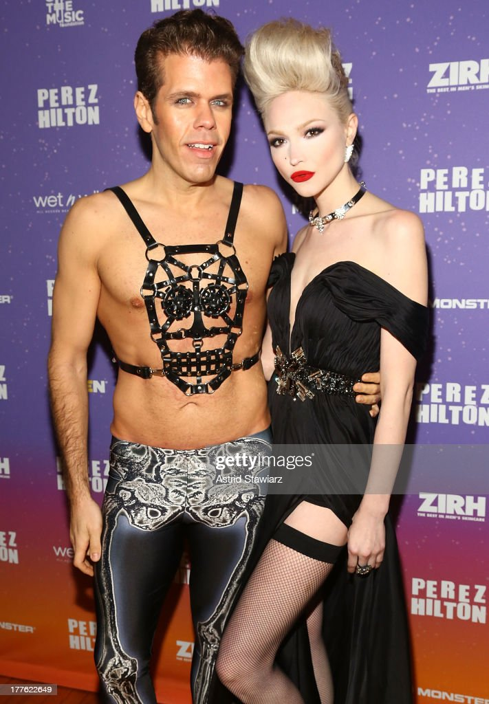 Perez Hilton and singer Ivy Levan attend Perez Hilton's One Night In Brooklyn at Music Hall of Williamsburg on August 24, 2013 in New York City.
