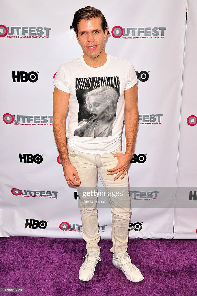 Perez Hilton arrives at the Outfest Opening Night Gala of 'C.O.G.' at Orpheum Theatre on July 11, 2013 in Los Angeles, California.