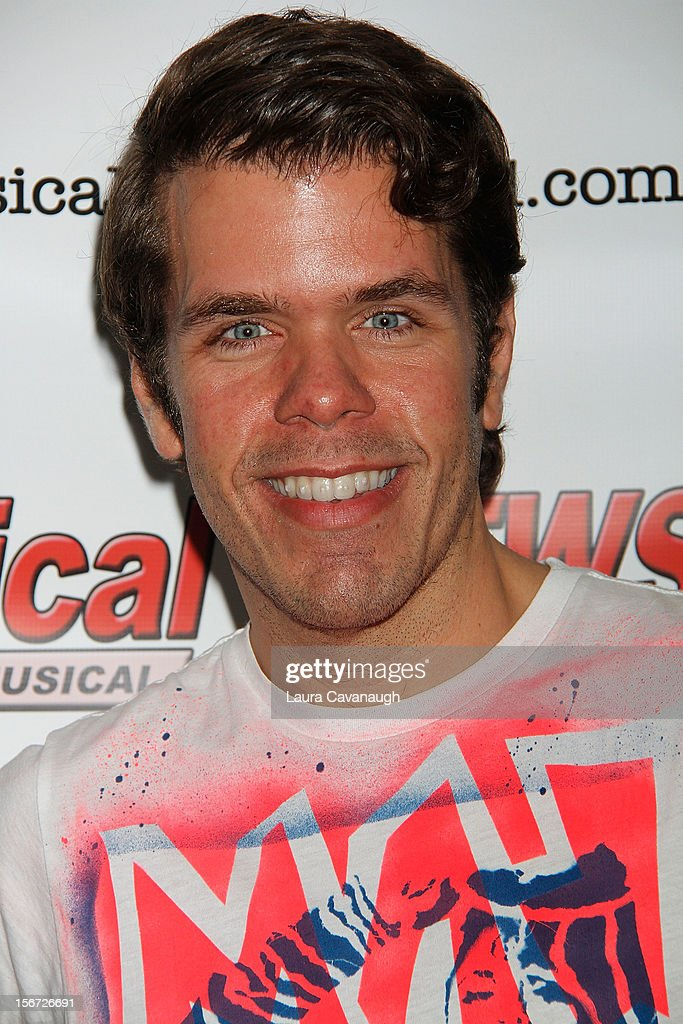 Perez Hilton attends opening night of Andrea McArdle in 'NEWSical The Musical'at The Kirk Theater at Theatre Row on November 19 2012 in New York City