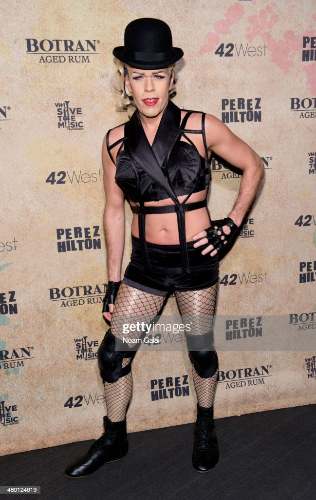 <a gi-track='captionPersonalityLinkClicked' href=/galleries/search?phrase=Perez+Hilton&family=editorial&specificpeople=598309 ng-click='$event.stopPropagation()'>Perez Hilton</a> attends <a gi-track='captionPersonalityLinkClicked' href=/galleries/search?phrase=Perez+Hilton&family=editorial&specificpeople=598309 ng-click='$event.stopPropagation()'>Perez Hilton</a>'s 36th Birthday 'Madonnathon' at 42West on March 22, 2014 in New York City.