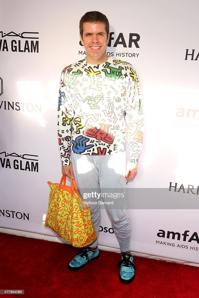 Perez Hilton attends the 2015 amfAR Inspiration Gala New York at Spring Studios on June 16 2015 in New York City