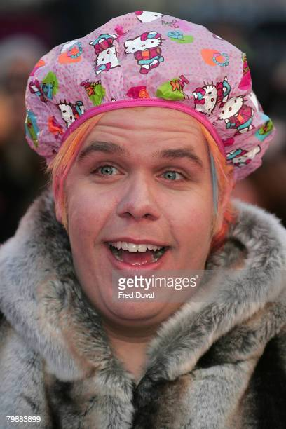 Perez Hilton attends the Brit Awards held at Earl's Court on February 20 2008 in London England