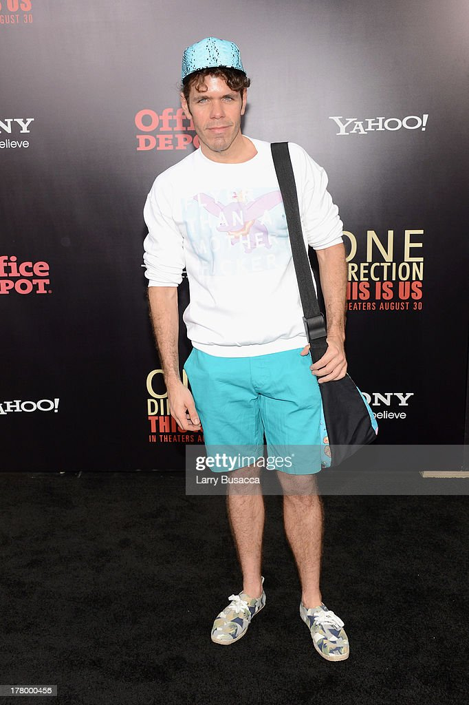 <a gi-track='captionPersonalityLinkClicked' href=/galleries/search?phrase=Perez+Hilton&family=editorial&specificpeople=598309 ng-click='$event.stopPropagation()'>Perez Hilton</a> attends the New York premiere of 'One Direction: This Is Us' at the Ziegfeld Theater on August 26, 2013 in New York City.