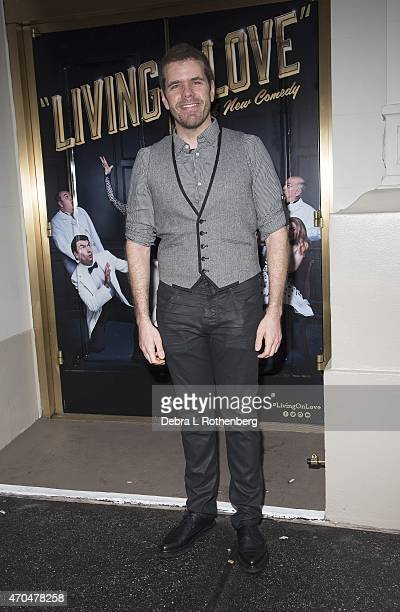 Perez Hilton attends the opening night of 'Living On Love' at The Longacre Theatre on April 20 2015 in New York City