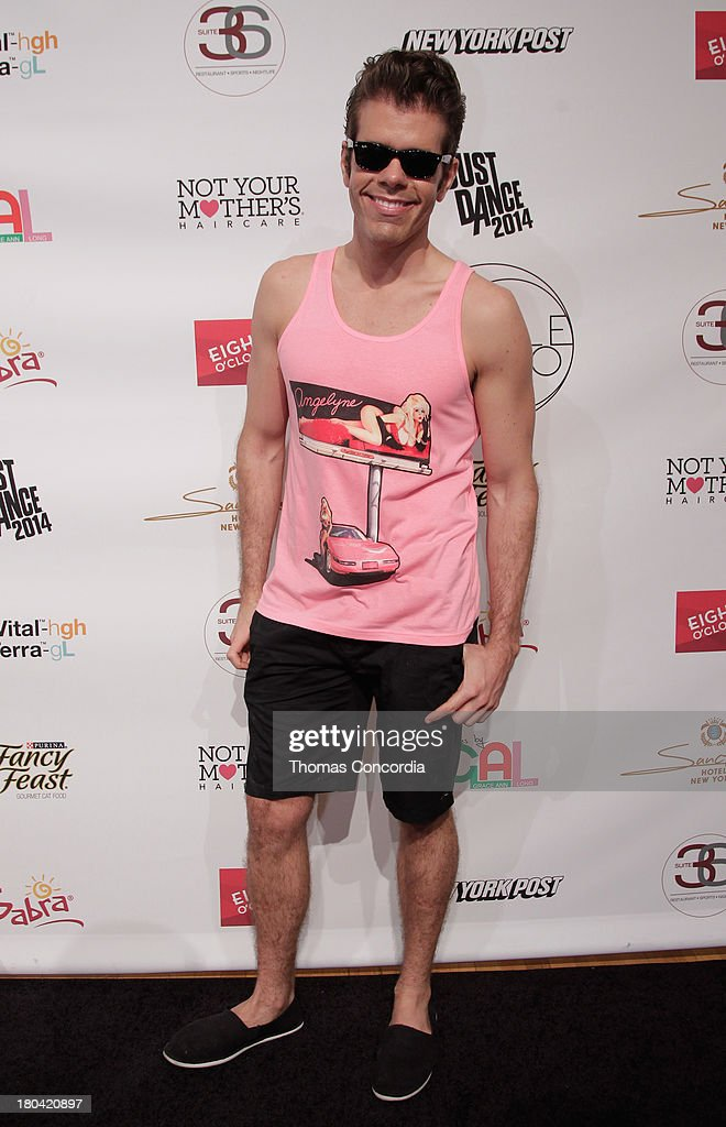 <a gi-track='captionPersonalityLinkClicked' href=/galleries/search?phrase=Perez+Hilton&family=editorial&specificpeople=598309 ng-click='$event.stopPropagation()'>Perez Hilton</a> attends Tumbler and Tipsy by Michael Kuluva presented by AIDS Healthcare Foundation at the STYLE360 Fashion Pavilion in Chelsea on September 12, 2013 in New York City.
