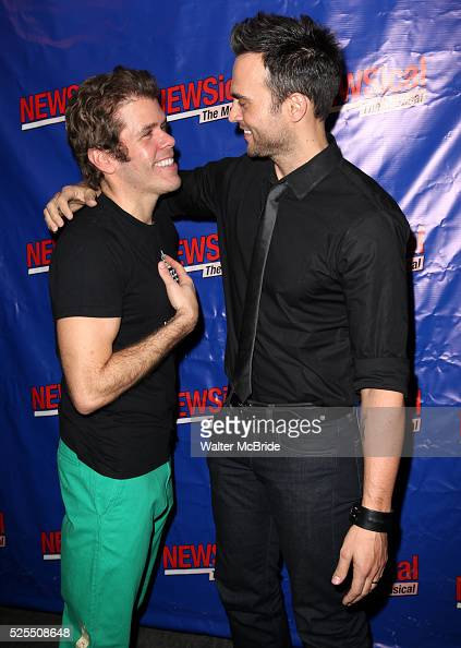 Perez Hilton Cheyenne Jackson attending the Opening Night Performance of Perez Hilton in 'NEWSical The Musical' at the Kirk Theatre in New York City...