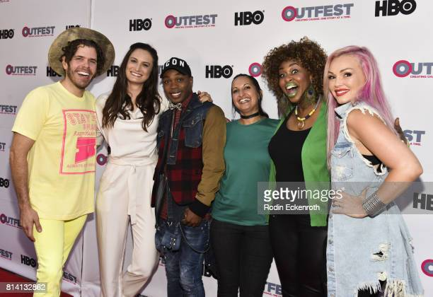 Perez Hilton Katherine Fairfax Wright Todrick Hall Lucy MukerjeeBrown GloZell and Kandee Johnson attend the 2017 Outfest Los Angeles LGBT Film...