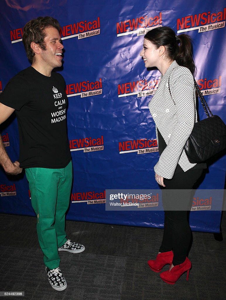 Perez Hilton Michelle Trachtenberg attending the Opening Night Performance of Perez Hilton in 'NEWSical The Musical' at the Kirk Theatre in New York...