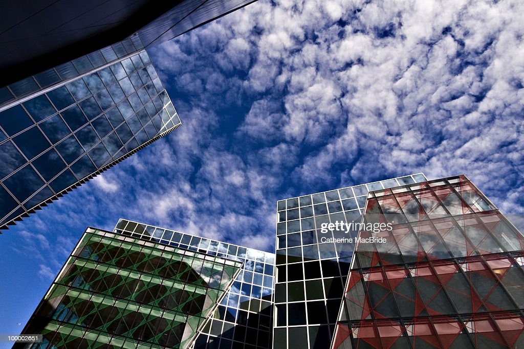 Perfect Blue Buildings : Bildbanksbilder