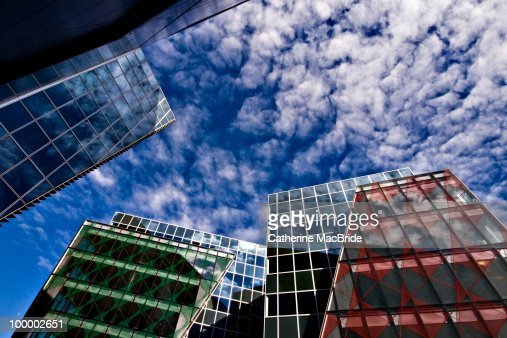 Perfect Blue Buildings : Stock Photo