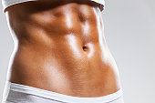 Perfect female body - abdominal muscles.