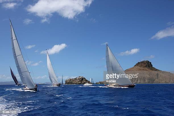 Perfect Caribbean vacation. Sailing at St.Barth
