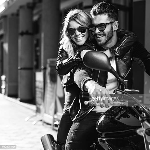 Perfect couple of bikers