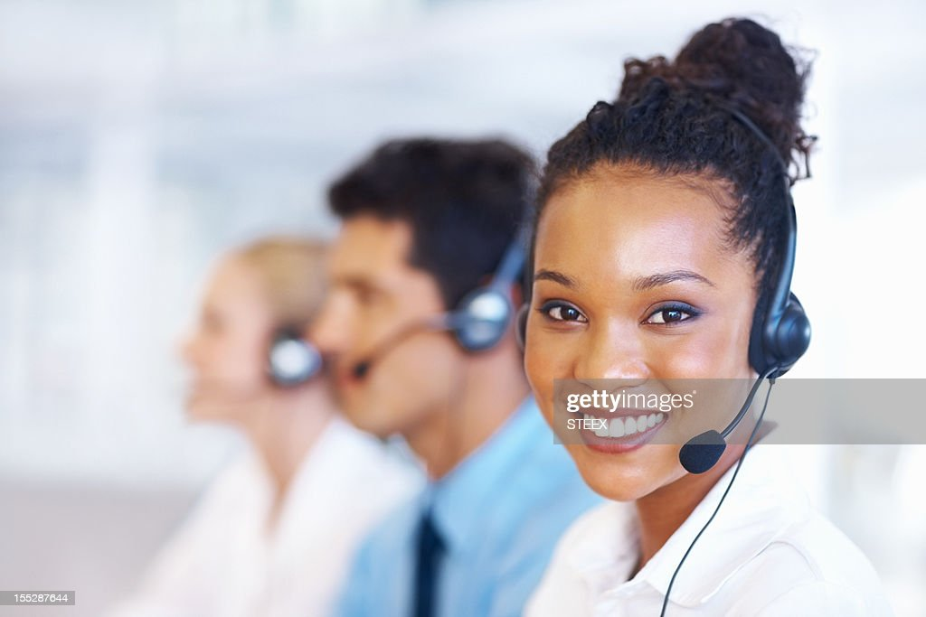Perfect customer support : Stock Photo