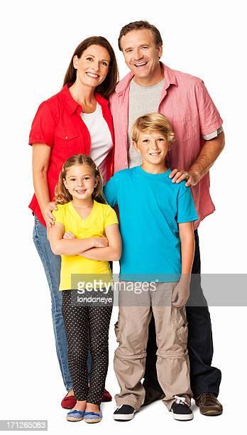 Perfekte Familien Portrait-isoliert