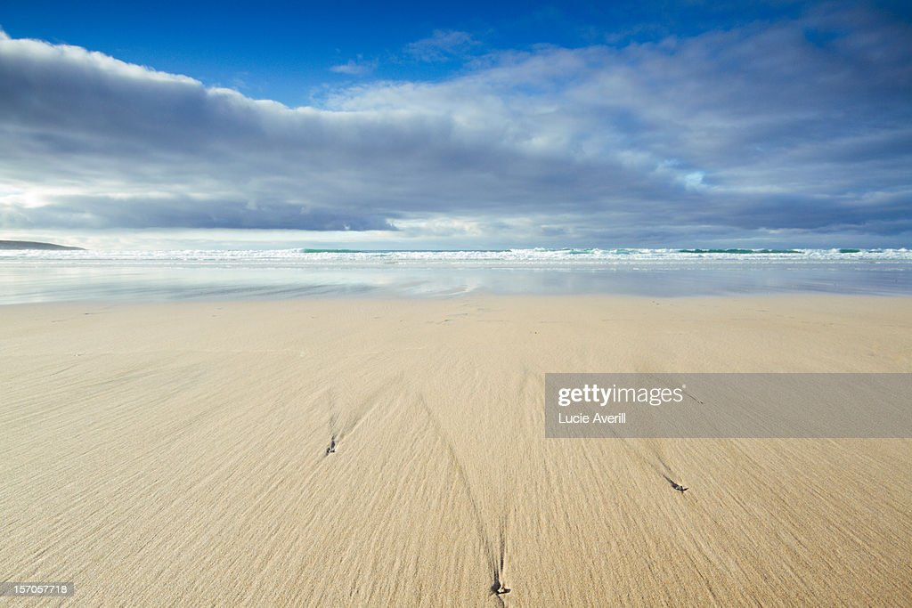 Perfect Sands - empty beach at low tide. : Stock Photo