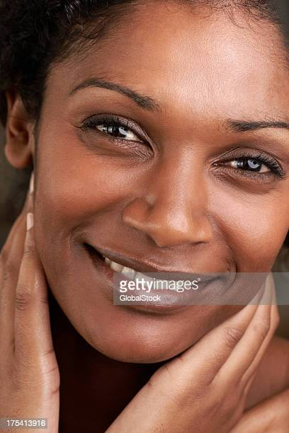 Perfect skin gives her happiness and confidence