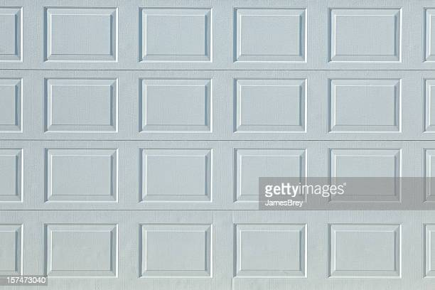 Perfect White Aluminum Garage Door Textured Stock Surface Background