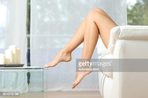 Parfait femme jambes épilation concept : Photo