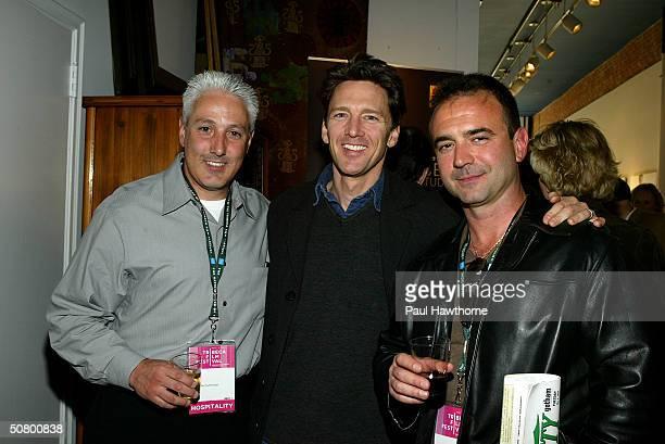 Perfectly Honest producer John Scaccia actor Andrew McCarthy and 2B Perfectly Honest producer Jeff Mazzola pose at the Kodak Producers' Reception...