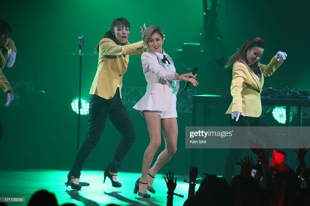 BENI perfoms onstage during the MTV VMAJ 2013 at Makuhari Messe on June 22, 2013 in Chiba, Japan.