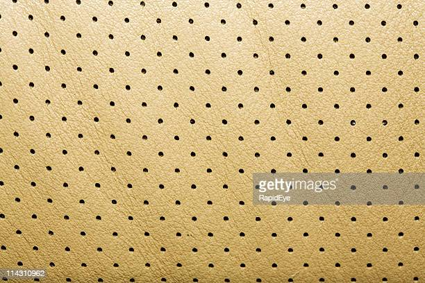 Perforated leather