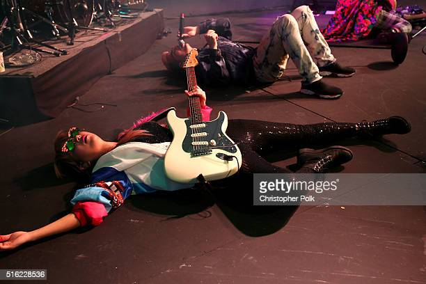 DNCE perform at Music Is Universal Styldby Gap presented by Marriott Rewards and Universal Music Group during SXSW at the JW Marriott Austin on March...