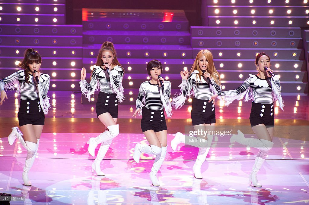 KARA perform during the 12th Korea-China Music Festival at KBS Hall on December 2, 2010 in Seoul, South Korea.