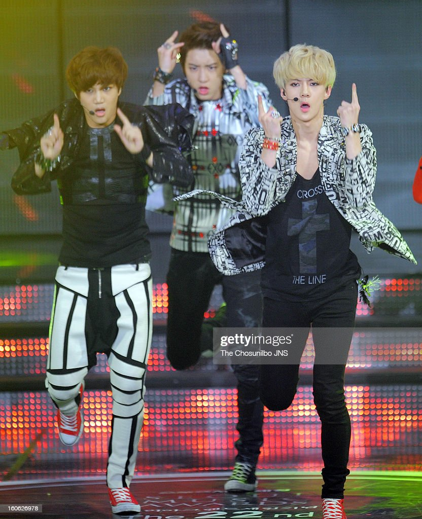 K perform during the 22nd High 1 Seoul Music Awards at Olympic Park on January 31, 2013 in Seoul, South Korea.