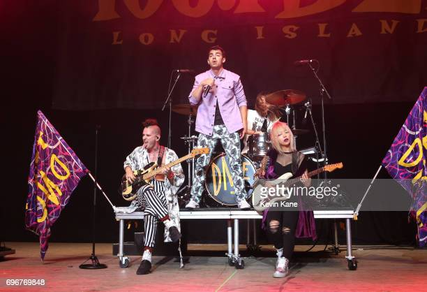 DNCE perform on stage during the 2017 BLI Summer Jam at Nikon at Jones Beach Theater on June 16 2017 in Wantagh New York