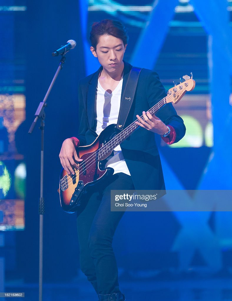 CNBLUE perform onstage during 'Seoul International Drama Awards 2012' at the National Theater of Korea on August 30, 2012 in Seoul, South Korea.