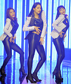 DALSHABET perform onstage during the MBC Music 'Show Champion' at Bitmaru on February 5 2014 in Goyang South Korea